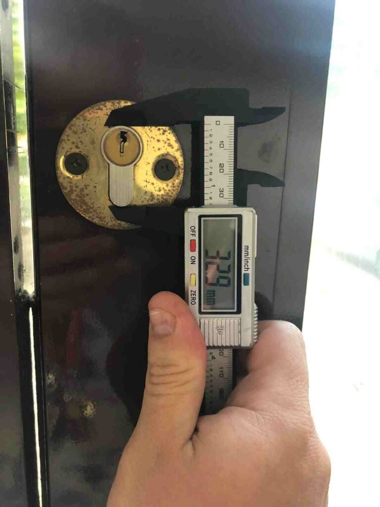 lock replaced with a digital lock